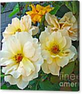 The Palest Yellow Just Like Lemon Sherbet Canvas Print