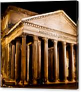 The Pantheon At Night - Painting Canvas Print