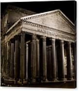 The Pantheon At Night Canvas Print