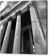 The Pantheon In Rome Bw Canvas Print