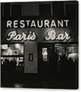 The Paris Bar Canvas Print