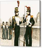 The Parisian Municipale Guard, Formed 29th July 1830 Coloured Engraving Canvas Print