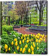 The Park At Post Office Square Canvas Print