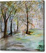 The Park Bench Canvas Print