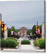 The Parkway And Art Museum Canvas Print