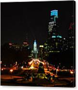 The Parkway At Night Canvas Print
