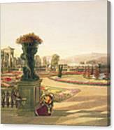The Parterre  Trentham Hall Gardens Canvas Print