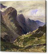 The Pass Of Glencoe, 1852 Canvas Print