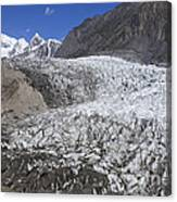 The Passu Glacier And Mountains Canvas Print