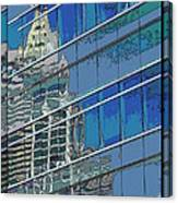 The Past Reflecting On The Present Canvas Print
