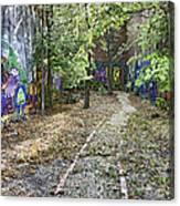 The Path Of Graffiti Canvas Print