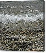 The Pebbled Shore 2 Canvas Print