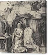 The Penitent Mary Magdalene, Antonie Wierix II Canvas Print