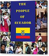 The People Of Ecuador Collage Canvas Print