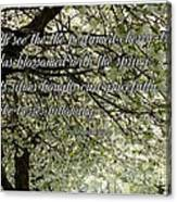 The Perfumed Cherry Tree 1 Canvas Print