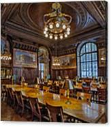 The Periodical Room At The New York Public Library Canvas Print