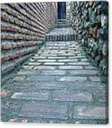 The Perspective Of Bricks Canvas Print