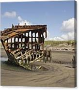 The Peter Iredale Shipwreck 2 Color Canvas Print
