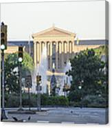 The Philadelphia Art Museum From The Parkway Canvas Print