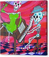 The Pianist Day Of The Dead Canvas Print