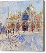 The Piazza San Marco Canvas Print