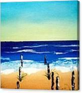 The Picket Beach Canvas Print