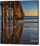 The Pier At Goleta Beach Canvas Print