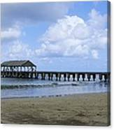 The Pier At Hanalei Canvas Print