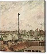 The Pilot's Jetty Le Harve Mornig Grey Weather Misty Canvas Print