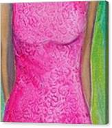 The Pink Dress Canvas Print