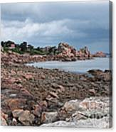 The Pink Granite Coast Brittany Canvas Print