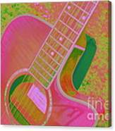 My Pink Guitar Pop Art Canvas Print