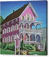The Pink House In Cape May Canvas Print