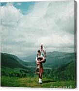 The Piper At The Great Glen Canvas Print