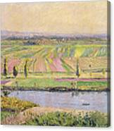 The Plain Of Gennevilliers From The Hills Of Argenteuil Canvas Print