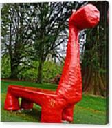 The Playful Dinosaur  Canvas Print