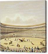 The Plaza De Toros Of Madrid, 1865 Canvas Print