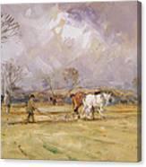 The Plough Team Canvas Print