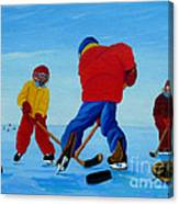The Pond Hockey Game Canvas Print