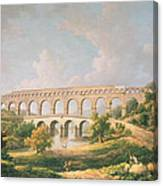 The Pont Du Gard, Nimes Canvas Print