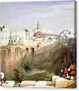 The Pool  Of Bethesda Jerusalem Canvas Print