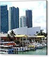 The Port Of Miami At Bayside Canvas Print