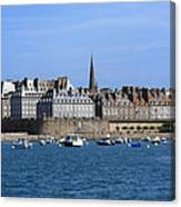 The Port Of St Malo France Canvas Print