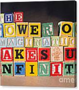 The Power of Imagination Makes us Infinite Canvas Print
