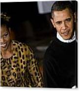 The President And First Lady Canvas Print
