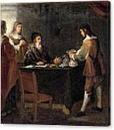 The Prodigal Son Receiving His Portion Of The Inheritance Canvas Print