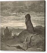 The Prophet Slain By A Lion Canvas Print
