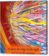 The Prophetic Song Canvas Print