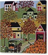 The Pumpkin Barn Canvas Print
