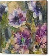 The Purple Bouquet Canvas Print